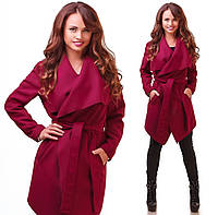 Женское легкое пальто кашемировое весна - осень 42-46р. (6расцв)