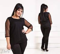 Нарядный женский брючный костюм большие размеры /ат41212, фото 1