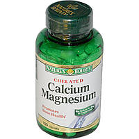 Кальций ( из раковин устриц) и магний (Calcium Magnesium), Nature's Bounty, 100  таблеток