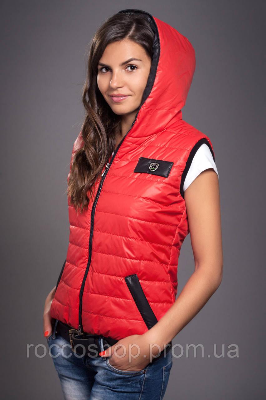83642d65ce93c Жилетка женская молодежная утепленная. Код модели ЖЛ-05-12-14. Цвет красный.,  цена 310 грн., купить в Хмельницком — Prom.ua (ID#872761360)