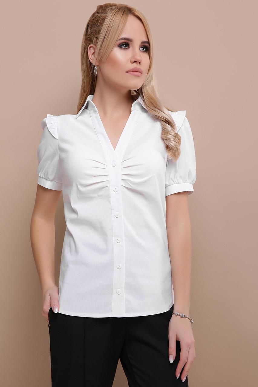 Женская блуза белая Маргарита к/р