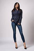 Женская молодежная демисезонная куртка. Код модели К-121-37-18. Цвет темно синий.