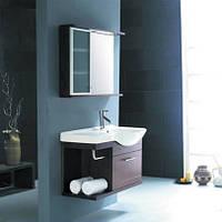 Комплект мебели CRW для ванной, бордовый GSP02L