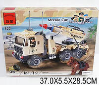 """Конструктор типа лего """"Машина с ракетной установкой"""" (310 деталей), ТМ  Brick,  822"""