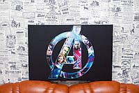 """Картина на холсте """"Captain America. Первый мститель. Супер герои.Marvel Comics"""" 60х40 см."""