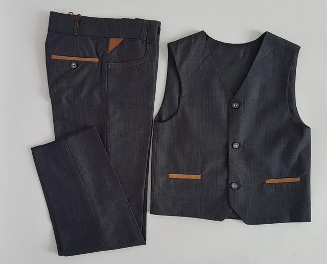 фотографія дитячий комплект двійка штани з жилеткою