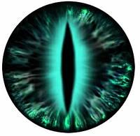 """Подвес """"Змеиный глаз зелено-черный """" на шнурке, фото 1"""