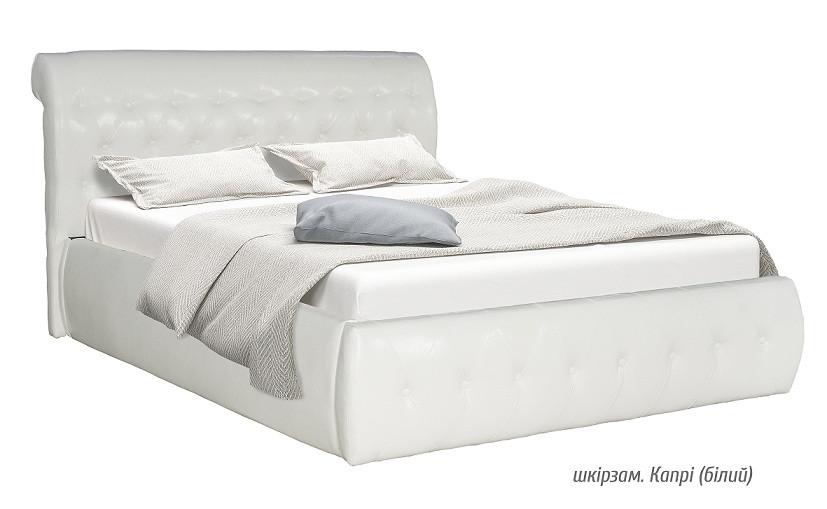Мягкая кровать ЛАГУНА белая (Мебель Сервис)