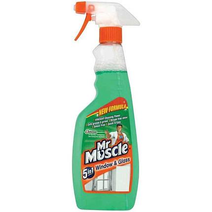 Засіб для миття скла Mr Muscle, Професіонал, із спиртом, розпилювач, 500 мл, фото 2