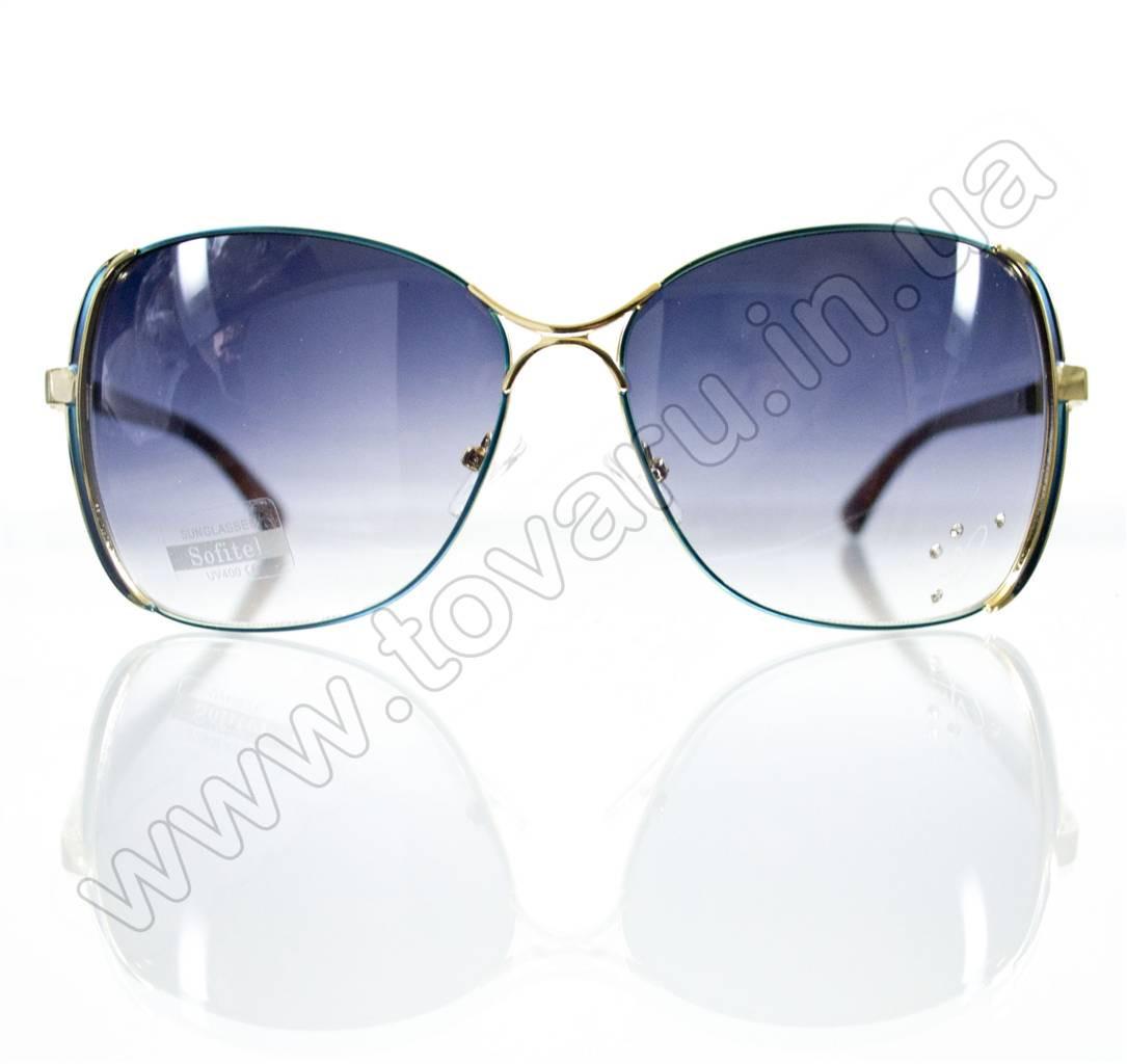 Оптом Очки женские солнцезащитные - Бирюзовые - S3305
