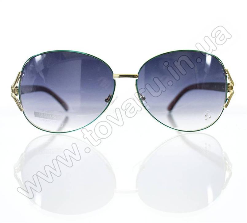 Оптом Очки женские солнцезащитные - Бирюзовые - S3314, фото 2