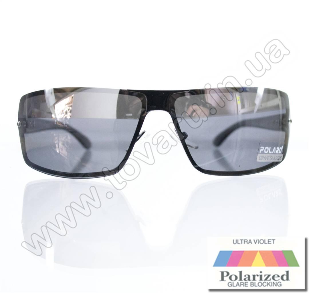 Очки мужские солнцезащитные поляризационные - Антифара - Черные (черное стекло) - PA11012