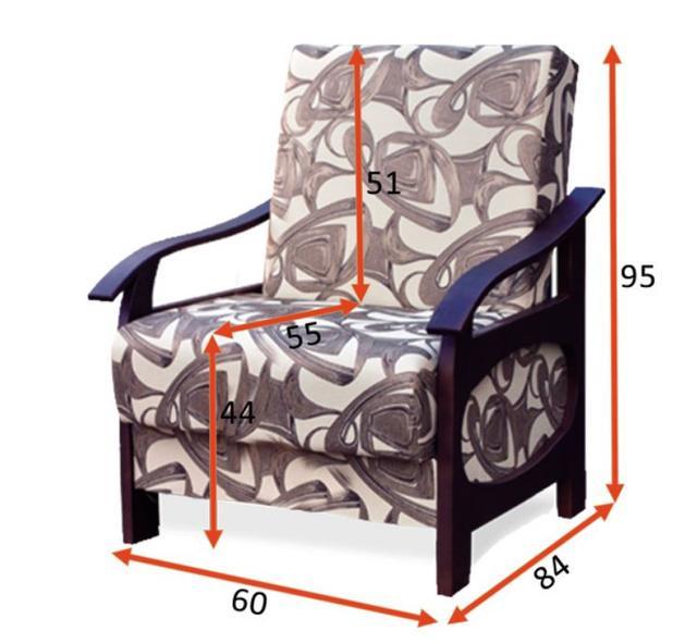 Кресло Доминик B (размеры)