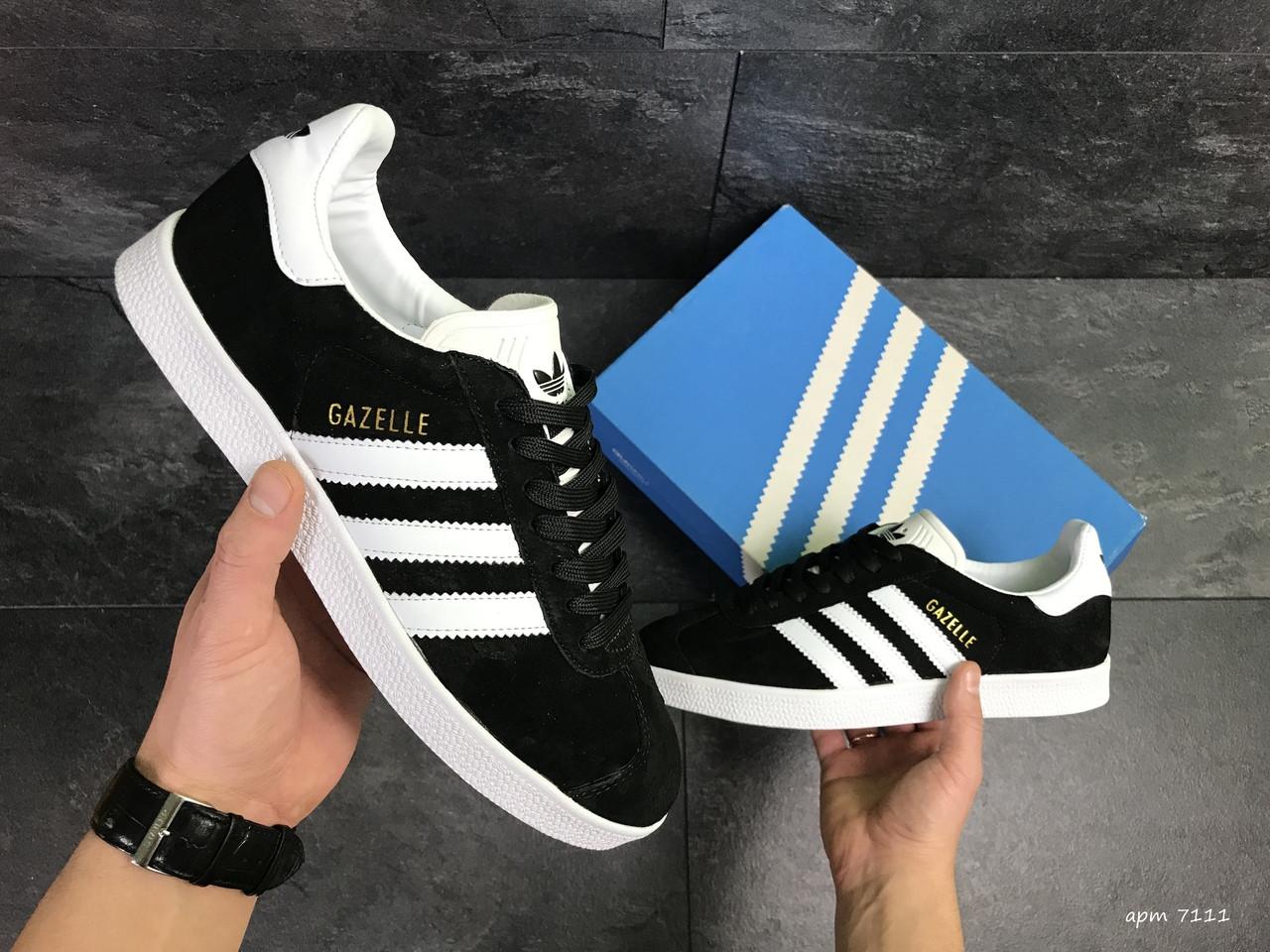 Мужские кроссовки Adidas Gazelle / кеды адидас газели / чоловічі кеди адідас (Топ реплика ААА+)
