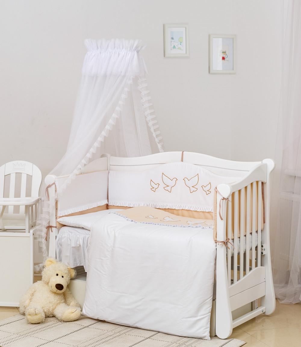 Детское постельное белье Twins Romantik R-005 Dove beige 8 эл