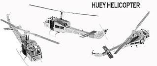 Металлический конструктор вертолет UH-1