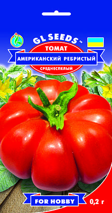 Томат Американский ребристый, пакет 0,2г - Семена томатов, фото 2