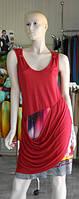 Яркое платье с драпировкой