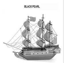 """Металлический конструктор корабль """"Черная Жемчужина"""" из известного фильма """"Пираты Карибского Моря"""""""