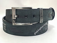 Ремень мужской кожаный Lacoste 45 мм., реплика 930672