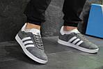 Мужские кроссовки Adidas Gazelle (Серо-белые), фото 3