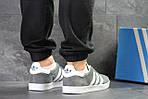 Мужские кроссовки Adidas Gazelle (Серо-белые), фото 2