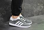 Мужские кроссовки Adidas Gazelle (Серо-белые), фото 5