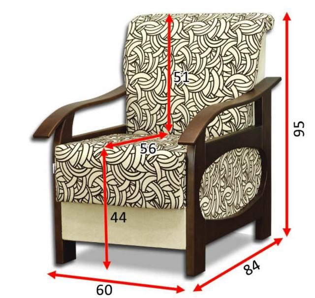 Кресло Канталь B (размеры)