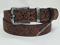Ремень мужской кожаный Louis Vuitton 45 мм., реплика 930676