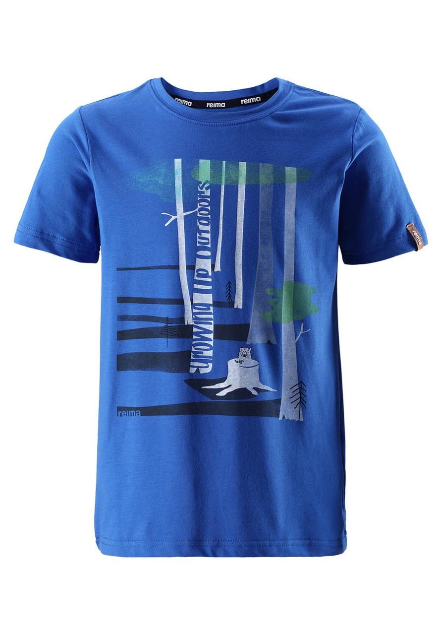 Футболка Reima Conch синяя с рисунком 134* (536277-6640)