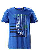Футболка Reima Conch синяя с рисунком 134* (536277-6640), фото 1