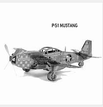 Металлический конструктор американский военный самолет P-51 Mustang