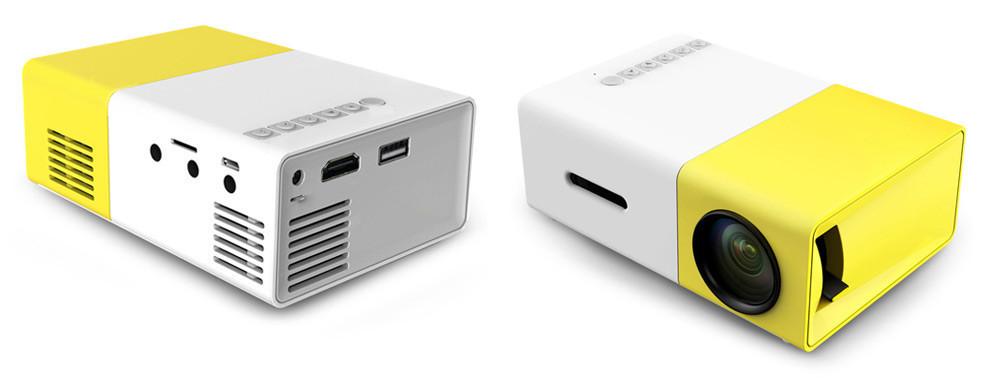 Портативный - Карманный LED проектор YG 300