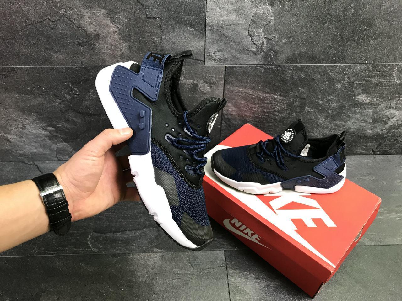 a31f0272 Мужские кроссовки Nike Air Huarache 7108 синие с черным купить ...