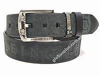 Ремень мужской кожаный Philipp Plein 45 мм., реплика 930681
