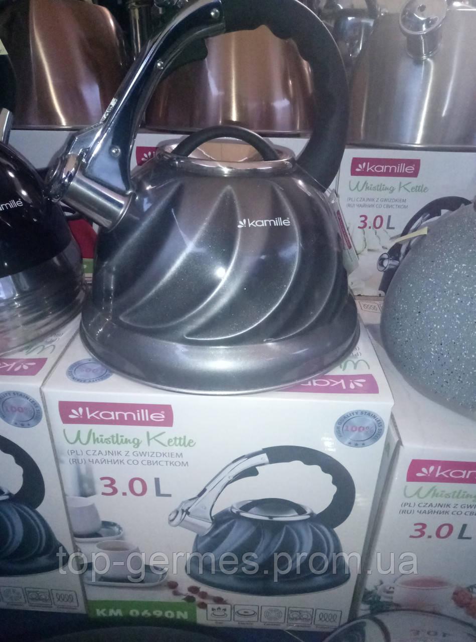 Чайник нержавейка со свистком  3л