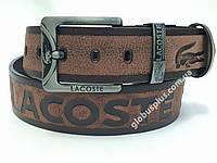 Ремень мужской кожаный Lacoste 45 мм., реплика 930682