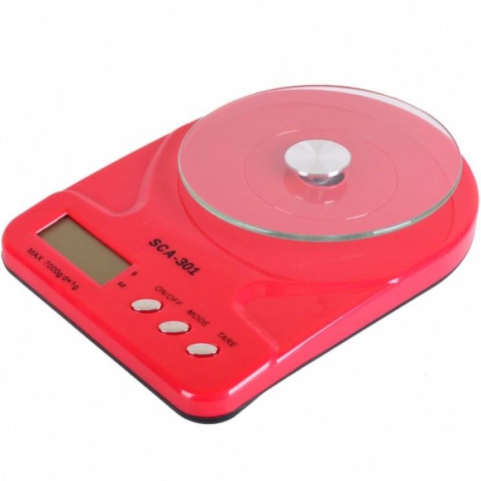 Кухонные Электронные Весы SСА 301 5 кг + батарейки Тёмно розовый