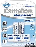 Аккумулятор Camelion R6 AA 2100 mAh Ni-Mh 2 bl Always Ready заряженный