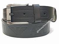 Ремень мужской кожаный Giorgio Armani 45 мм., реплика 930684