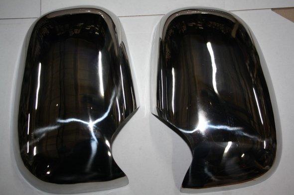 Накладки на зеркала (2 шт, нерж.) Ford Transit 1994-2000 гг.