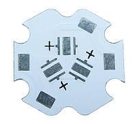 Плата печатна алюминиевая STAR 3 светодиода 3535 XP-leds 3588
