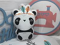 """Подушка """"Панда"""" велюровая, фото 1"""