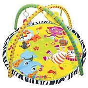 Развивающий детский коврик с дугами и погремушками 898-302B/303В