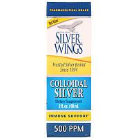 Коллоидное серебро, 500 частей на миллион, 60 мл, Natural Path Silver Wings