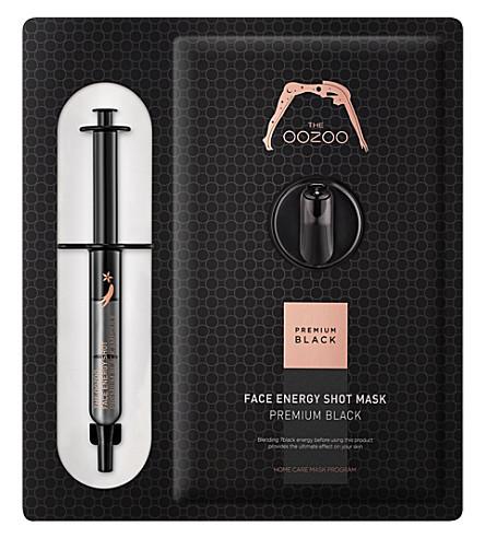 Маска с черным женьшенем и кератиназой The Oozoo Face Energy Shot Mask Premium Black