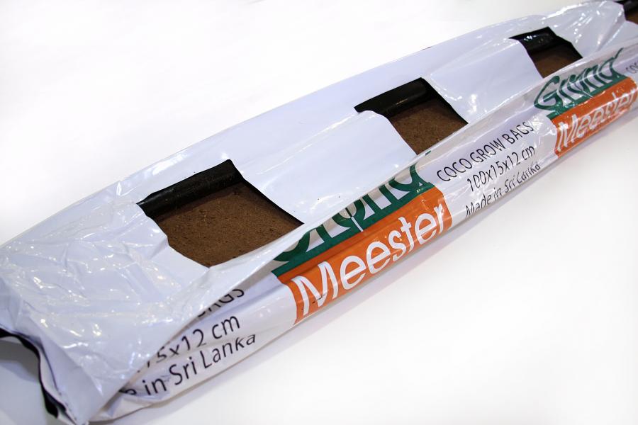 Кокосовый мат GrondMeester, 100x15x12 см (60 торф х 40 чипсы) PRO40