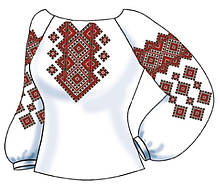 СВЖБ-67. Заготовка Жіноча сорочка лляна біла
