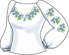 СВЖБ-68. Заготовка Жіноча сорочка лляна біла