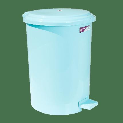 Ведро для мусора с педалью Irak Plastik №4 35л светло-зеленое, фото 2